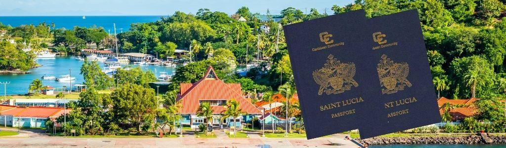 Паспорт Сент-Люсии - картинка